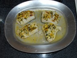 Halibut with Winter savory crust