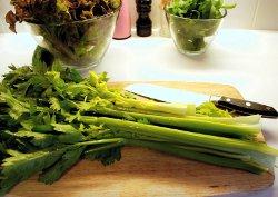 Harvested celery